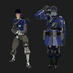 Luna Blue MvM Bots by MailCrown