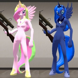 Princess Celestia/Luna Sniper Model by Kassgrein